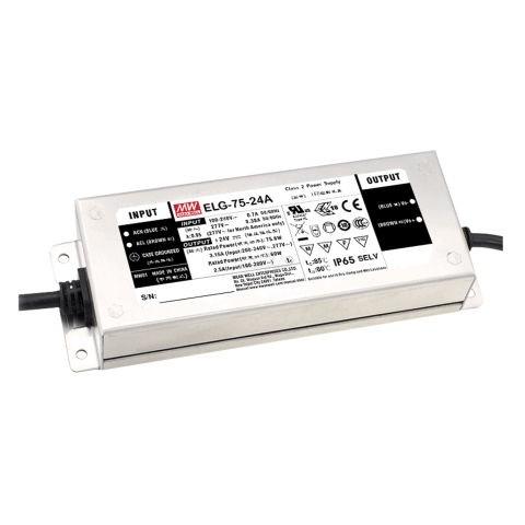 Netzteil IP67 75,6W 24V/3,15A CV+CC + PE