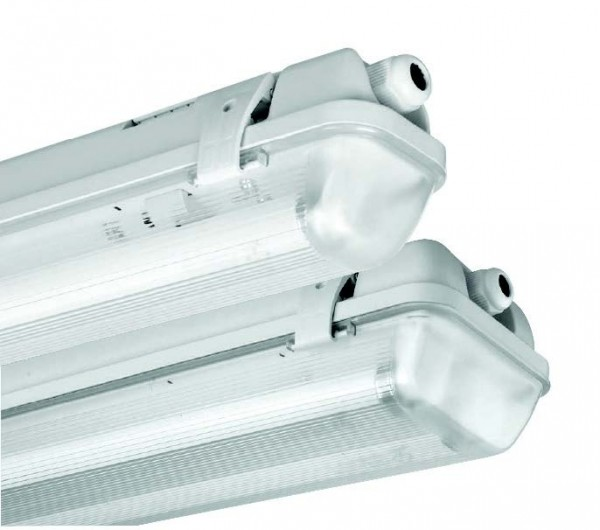 Feuchtraum Wannen Leuchte LED ALLEGRA ECO CELL 1X24W 4000K GREY 1565mm auch für Keller oder Garage