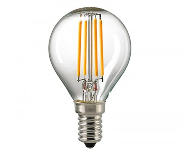 Kugellampe Filament klar E14 4,5 W 2700K