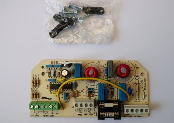 2008 F/PC Dimmer f.2 Lichtquellen ext. Taster 40-160W u. 100-300W Hochvolt 230V Glüh- oder HV RQ0480