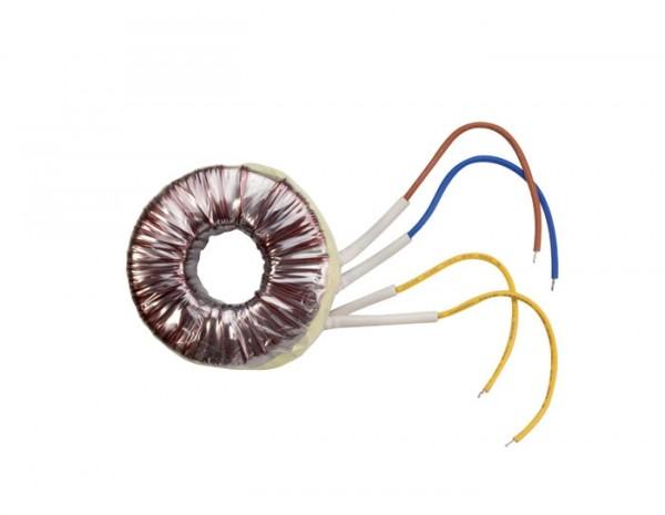 Ringkerntrafo TOR50T 50VA 230/12V 30X83X32 Halogen Thermische Sicherung.