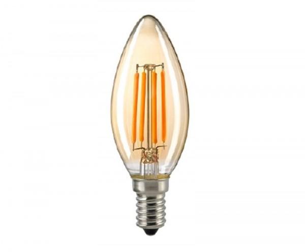 Kerzenlampe Filament gold E14 2,5 W 2500K