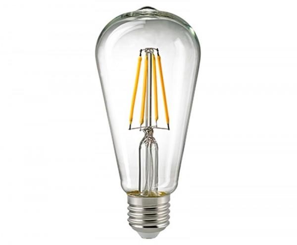 Edison-Lampe Filament Klar Rustika E27 7 W 2700K