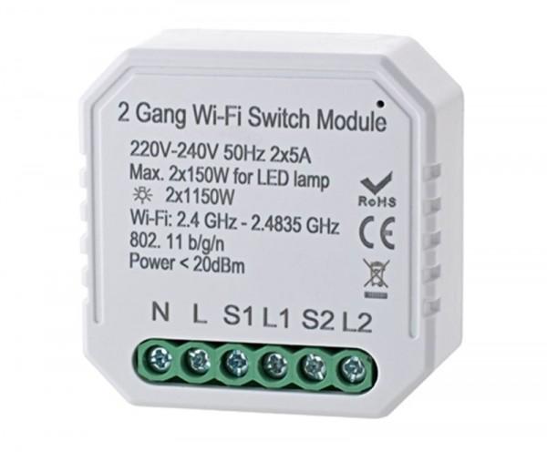 WIFI Schalter SIGOR shaire Unterputzdosen 1 Kanal (Abbildung zeigt 2-Kanal)