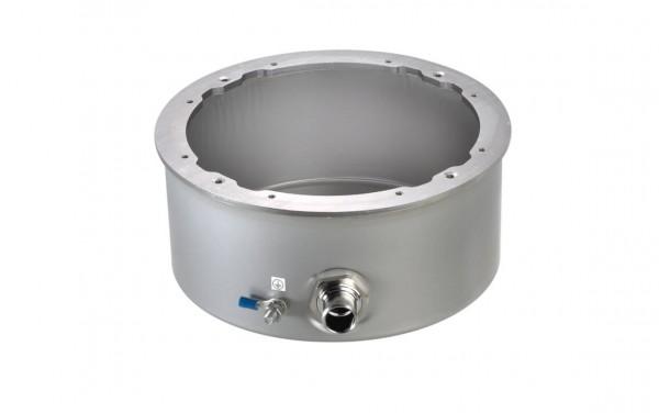 Einbaugehäuse aus V4A-Edelstahl mit 1,5m Kabelschu