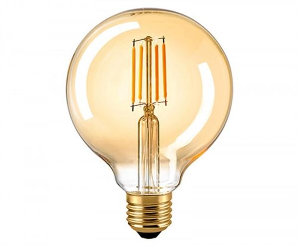 Globelampe Filament 95 mm E27 GOLD 7 Watt DIMMBAR