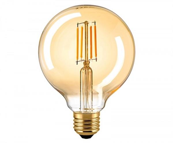 Globelampe Filament 125 mm E27 GOLD 4,5Watt DIM