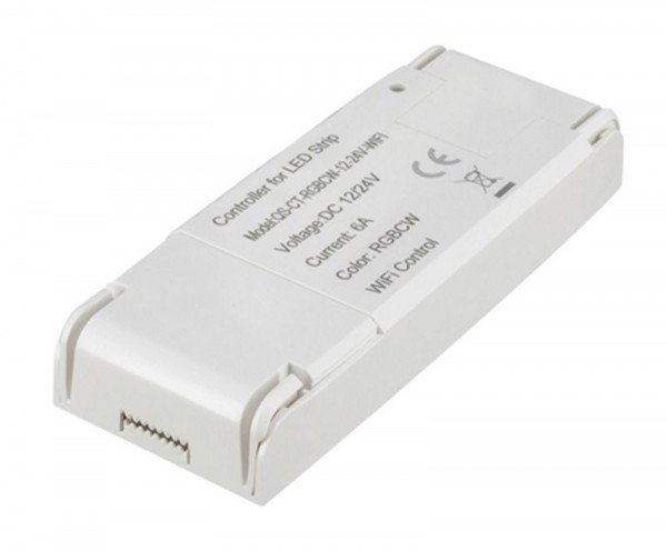 Shaire WIFI Controller für LED-Streifen RGB+tunable 12/24V dc 96/192 W max. 8 A Alexa + Google komp.