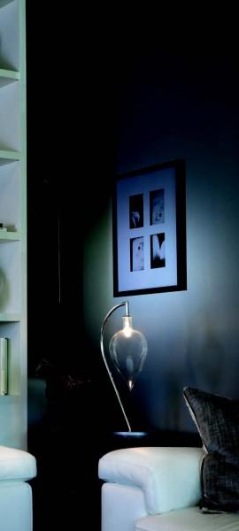 Tischleuchte LED LACRIMA LUME S CROMO 1X40W V/MUR. DIAM.140 H.2