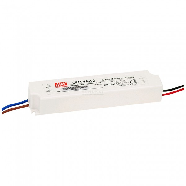 LPH-18-12 LED Treiber Meanwell Class2 18W 12V/1,5A CV
