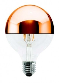 LED Leuchtmittel GLOBO 125mm 230V 5W E27 3000K CUP. bronze verspiegelt