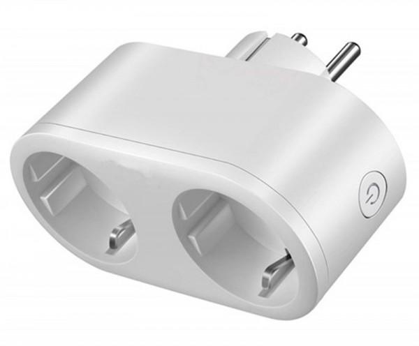 Shaire WIFI Plug 2 in 1 Steckdose 2-fach getrennt steuerbar auch mit Alexa u. Google